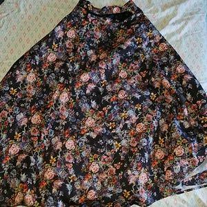 Floral Mod Cloth flare skirt - Plus size!
